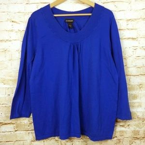 Lane Bryant Blue Pullover Knit Sweatshirt Top